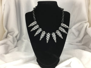 Shock To The Heart Edgy Statement Necklace