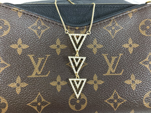 Three Triangles Is Better Than One Pendant Necklace