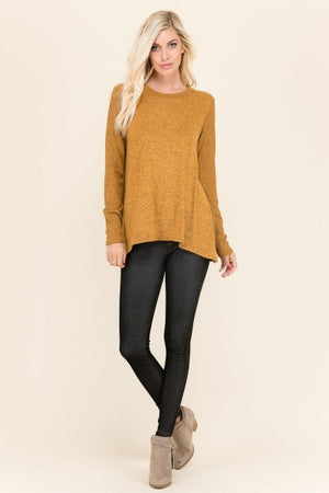 Celeste Light Sweater In Mustard