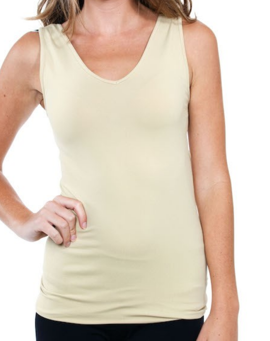 knit camisole stretch second skin spandex neutral black tan spanx vneck simplicity tank top razor back amazon target nordstrom n