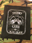 camo jacket johnny cash man in black country music vintage rock band grunge street wear coat sequin