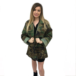 camo jacket rolling stones sticky finger vintage rock band grunge street wear coat sequin