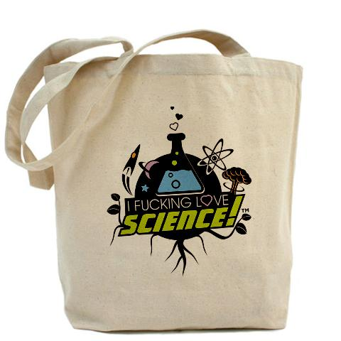 I Fucking Love Science Natural Tote Bag