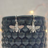 Sterling Silver Honey Bee Earrings