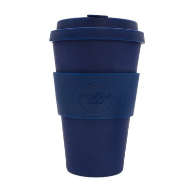 Ecoffee Organic Bamboo Coffee Cup 14 oz - Blue