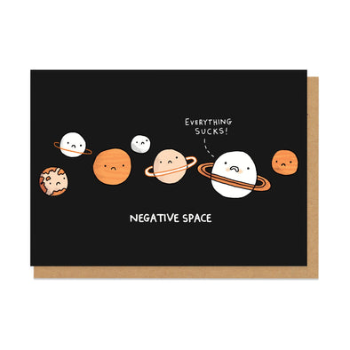 Negative Space Greeting Card