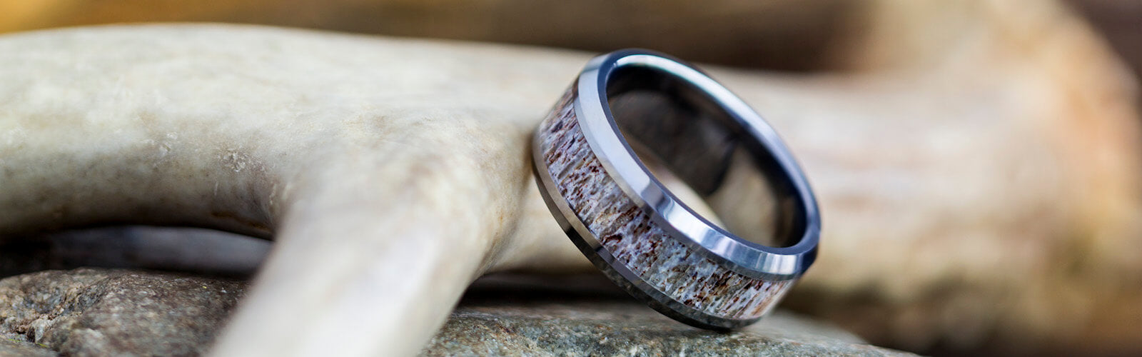 Tungsten Antler Rings