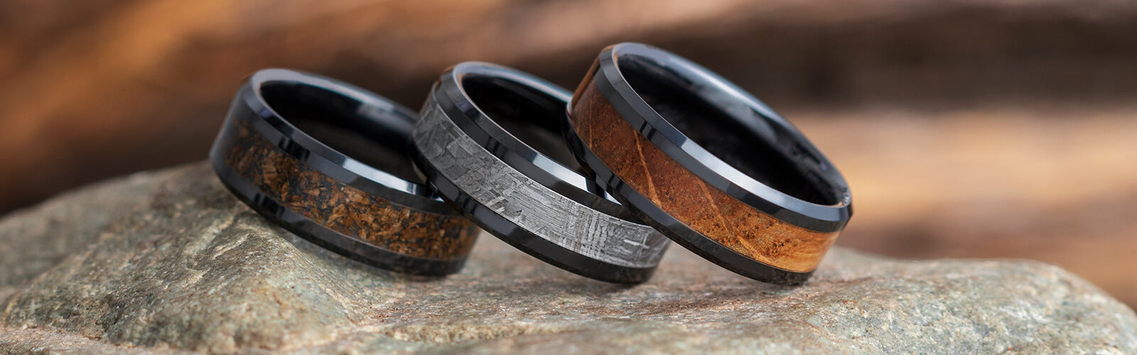 mens and wood w wedding antler s products men ring rings band black koa real ceramic inlay