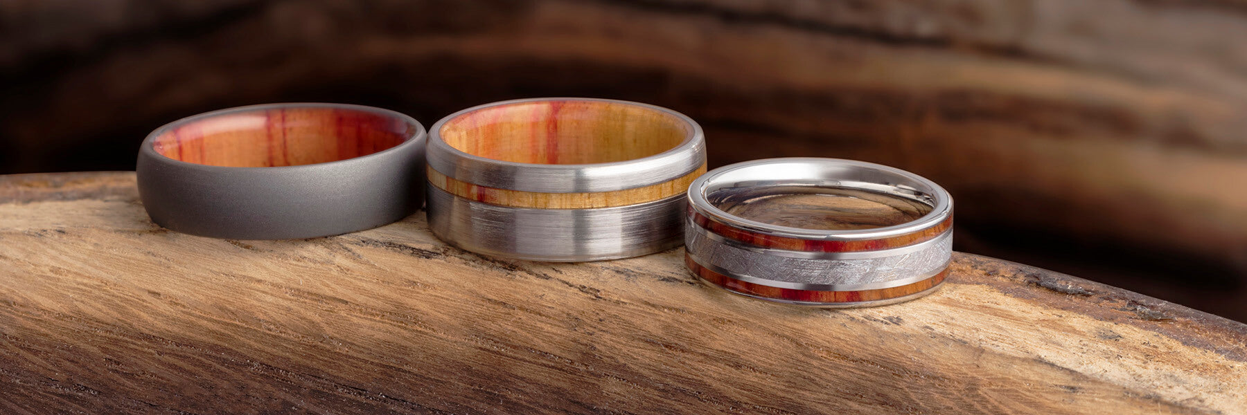 Orange Wedding Bands