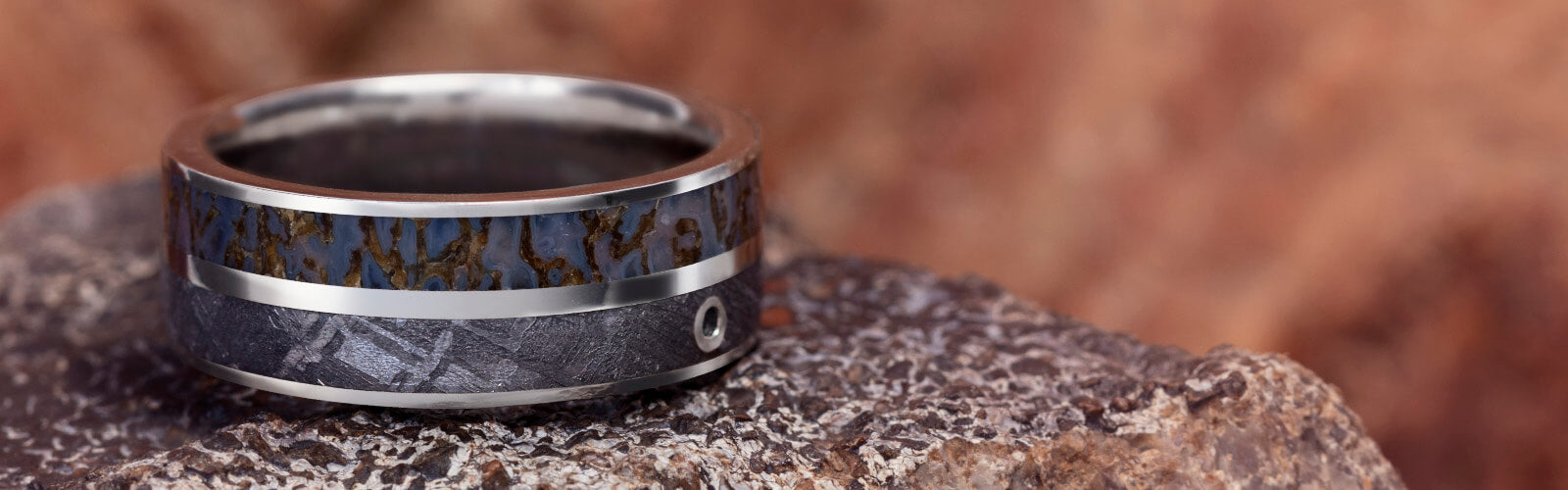 Platinum Dinosaur Bone Rings