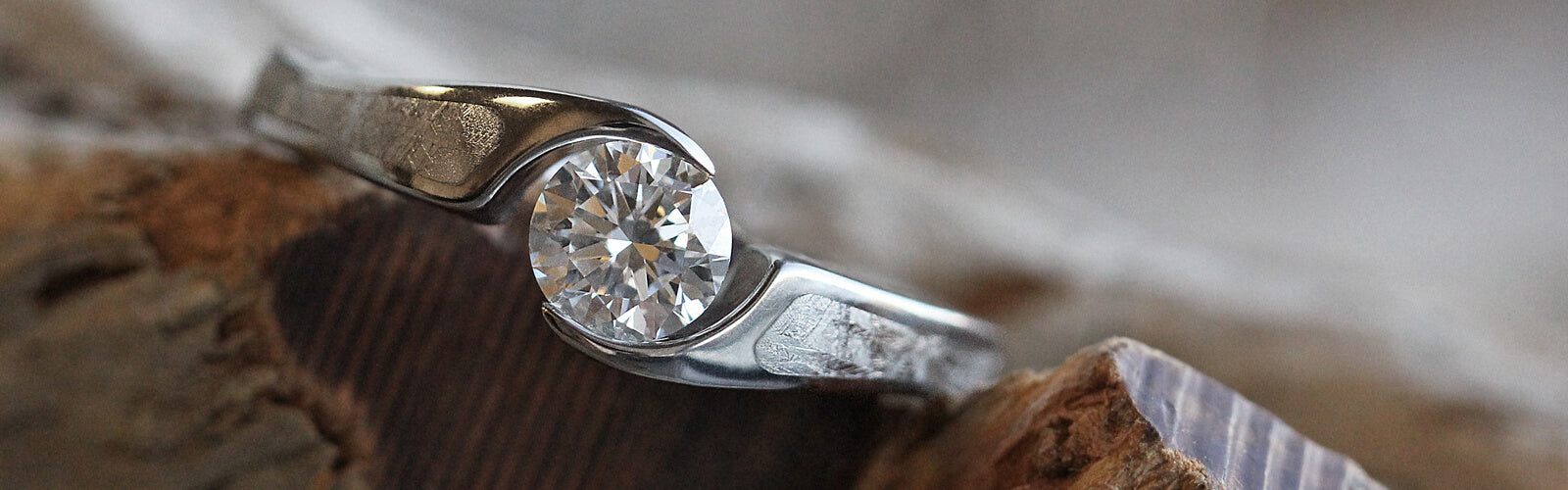 Meteorite Engagement Rings