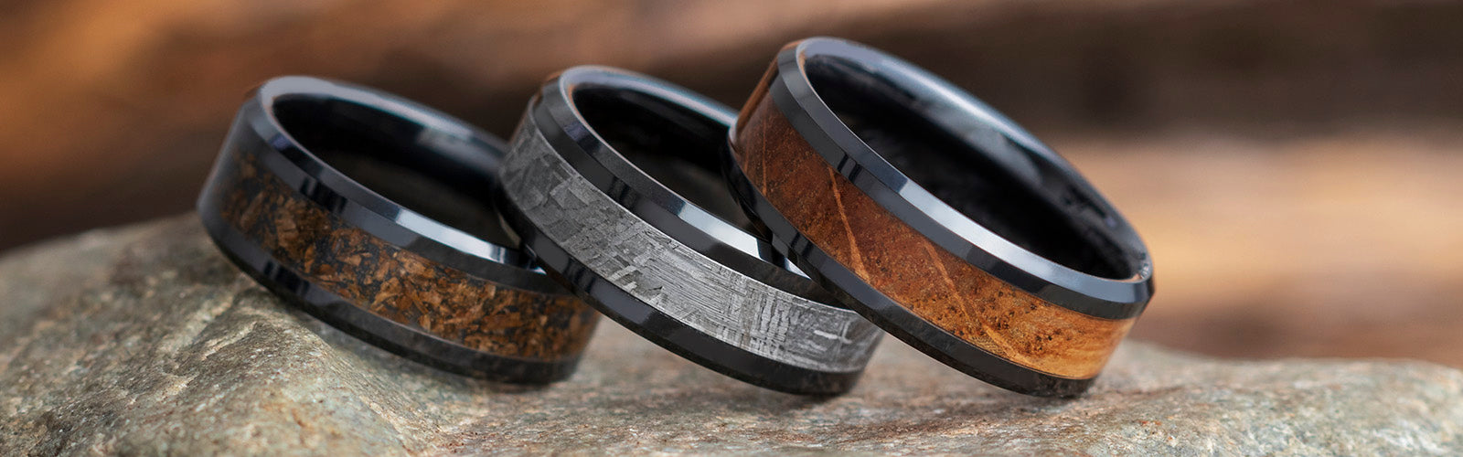 Single-Inlay Wedding Bands