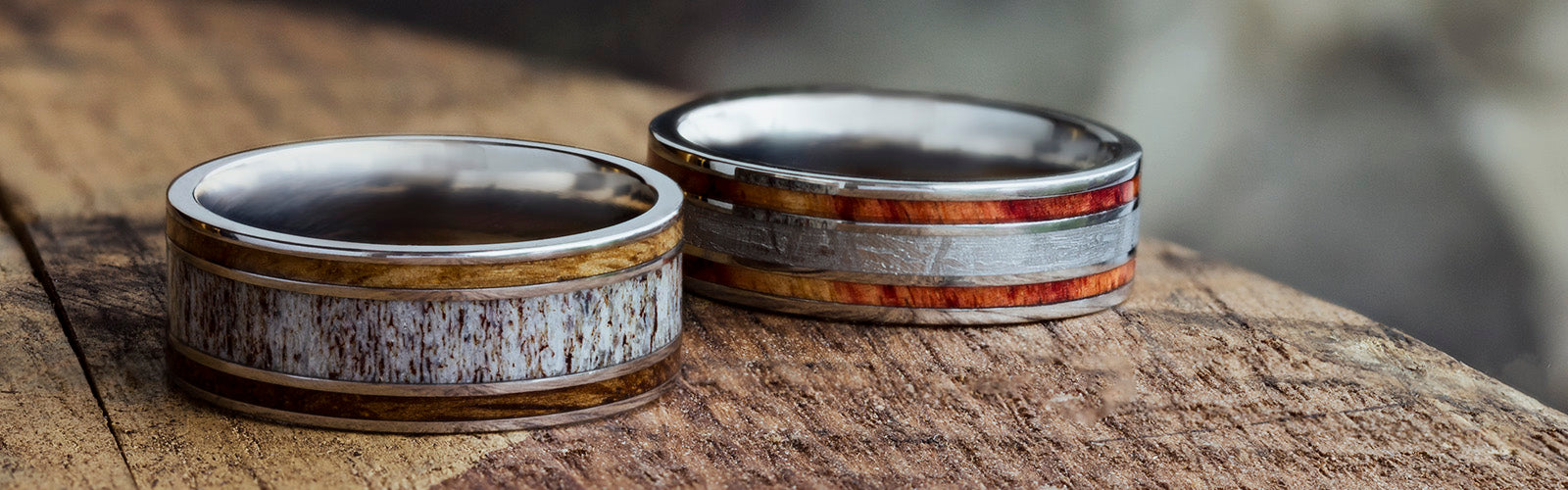 Triple-Inlay Wedding Bands