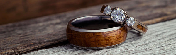 Whisky Barrel Mens Wood Wedding Band Black Tungsten Wood Ring Lined with Whisky Barrel White Oak Mens Wedding Band