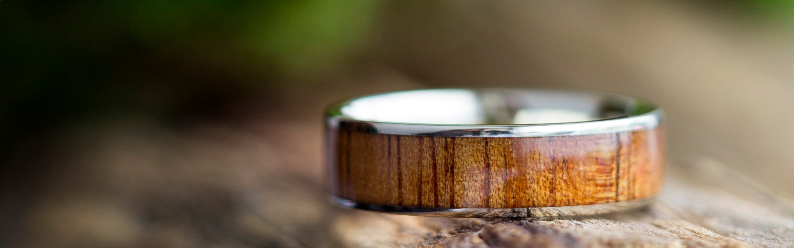 Gold Wood Rings