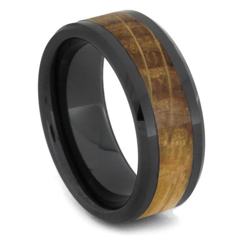 Black Ceramic Whiskey Barrel Ring