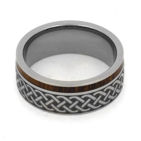 Wood Celtic Wedding Ring