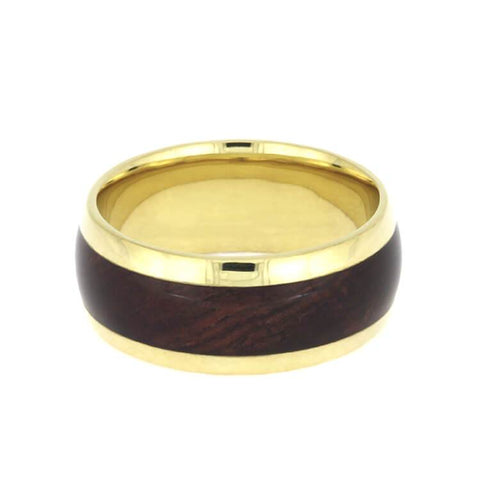 Yellow Gold Wood Ring