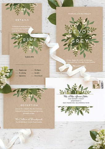 Natural Wedding Invitations