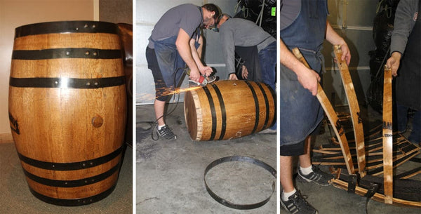 Disassembling a Whiskey Barrel