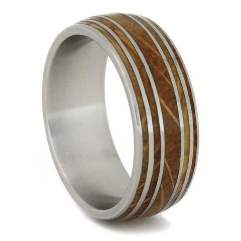 Whiskey Barrel Oak Ring with Pinstripes