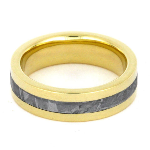 Yellow Gold Meteorite Ring
