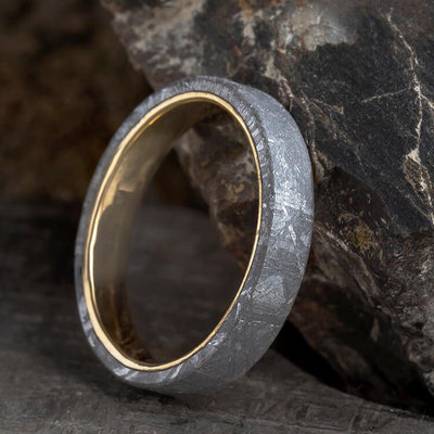 Unique Yellow Gold Men's Wedding Band