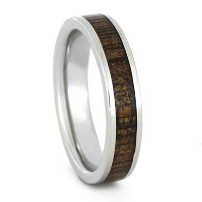 Celtic Ring, Wood Wedding Band In 14k White Gold-3336 - Jewelry by Johan