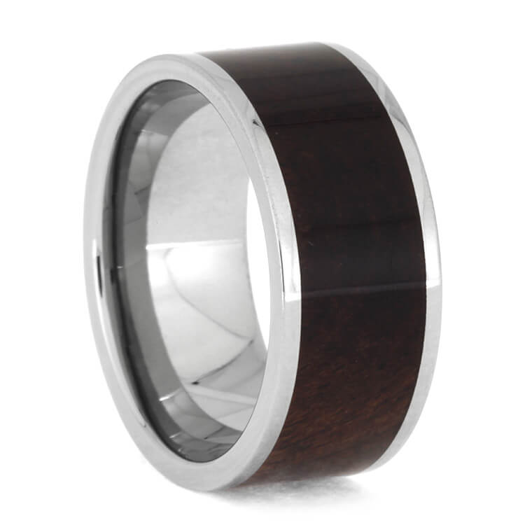 Honduran Rosewood Burl Titanium Wedding Band, Size 8-RS10322 - Jewelry by Johan