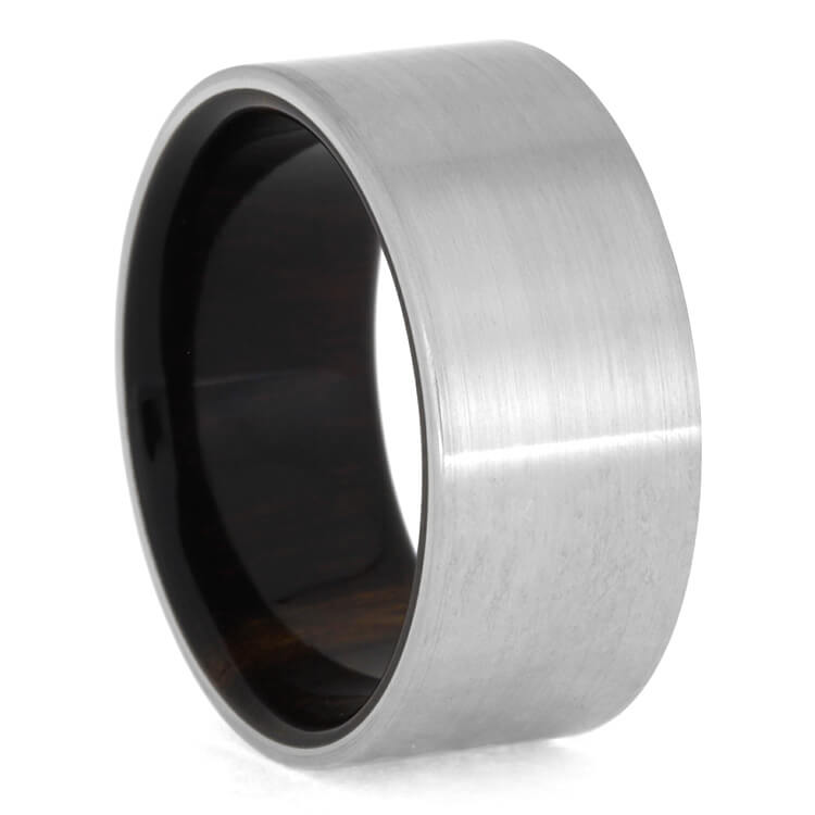 Ironwood Wedding Band With Brushed Titanium, Size 10.25-RS8974 - Jewelry by Johan