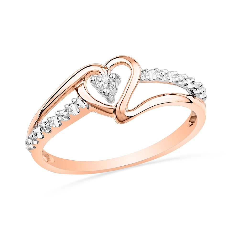 Rose Gold Diamond Heart Promise Ring-SHRF009618ATP - Jewelry by Johan