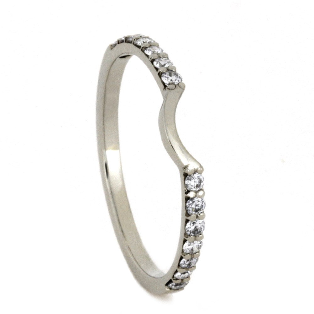 Custom Diamond Wedding Band, 10k White Gold-2772 - Jewelry by Johan