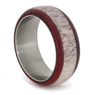 Ruby Redwood & Antler Titanium Ring-1711 - Jewelry by Johan