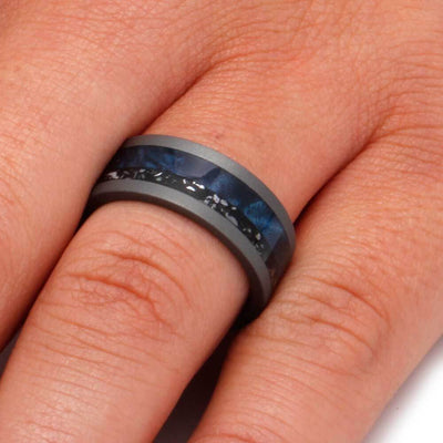 Black Stardust Men's Wedding Band