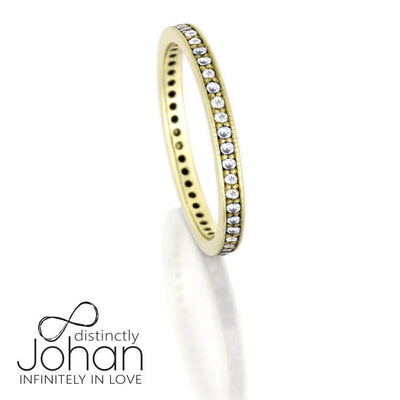 Unique Ring Set With Black And White Diamonds, Stacked Wedding Ring Set-DJS1000YG - Jewelry by Johan