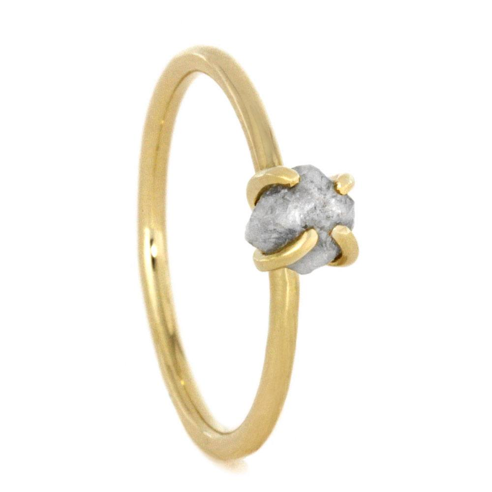 Rough Diamond Ring In Thin Yellow Gold-2866 - Jewelry by Johan