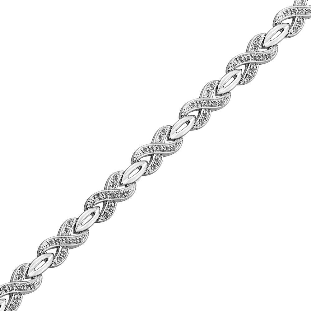 Unique Diamond Infinity Symbol Bracelet, Gold or Silver-SHBF071319FAW - Jewelry by Johan