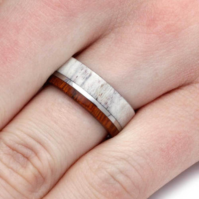 Antler and Wood Ring