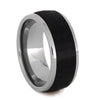 Titanium Men's Wedding Band with African Blackwood Inlay-1079 - Jewelry by Johan