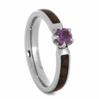 Pink Sapphire Engagement Ring in White Gold-2805 - Jewelry by Johan