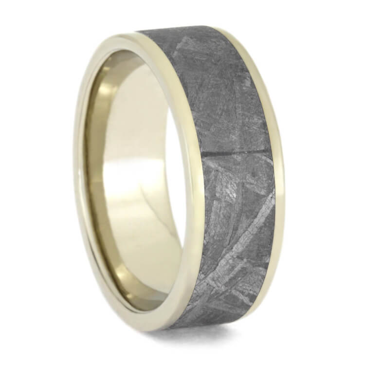 Men's White Gold Meteorite Ring, Size 10.5-RS9717 - Jewelry by Johan