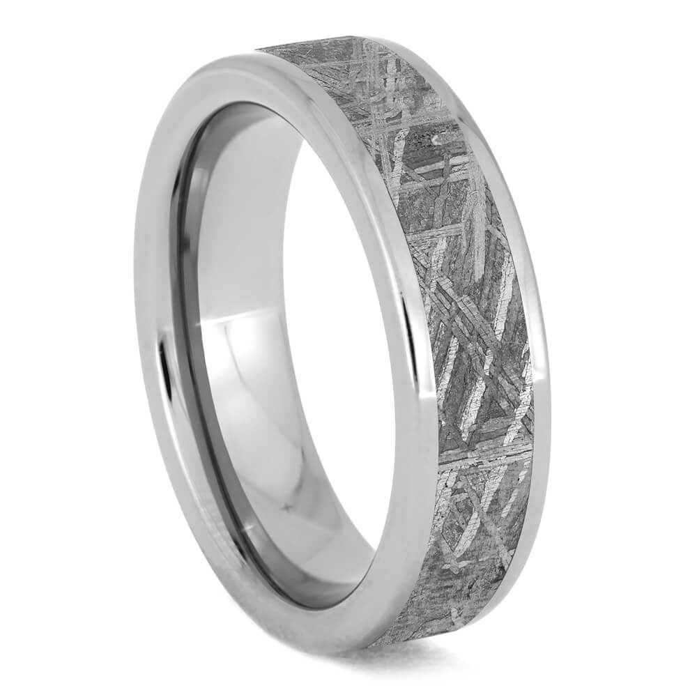 Tungsten Gibeon Meteorite Ring-4747 - Jewelry by Johan