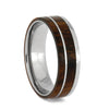 Sleek Titanium and Ironwood Ring, Size 10.5