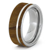 Custom Olive Wood Ring on Titanium Band-1259
