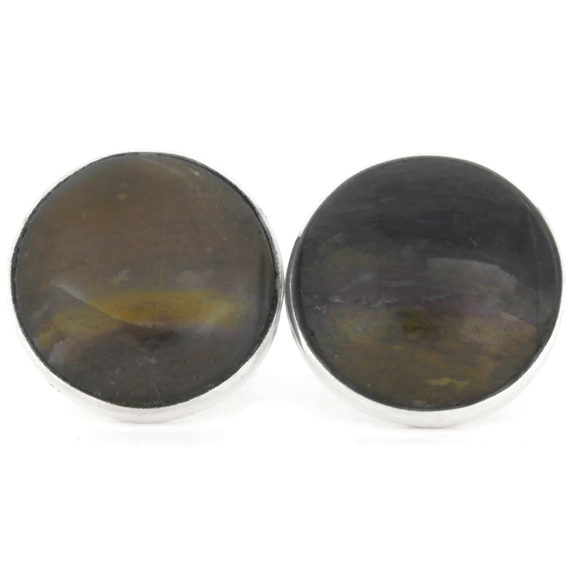 Petrified Wooden Cuff Links, In Stock-RS9553 - Jewelry by Johan