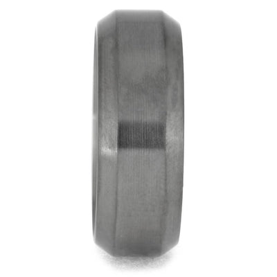 Flat Top Designed Titanium Ring with Beveled Edges-1385 - Jewelry by Johan