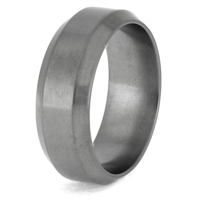 Titanium Ring with Beveled Edges for Comfort