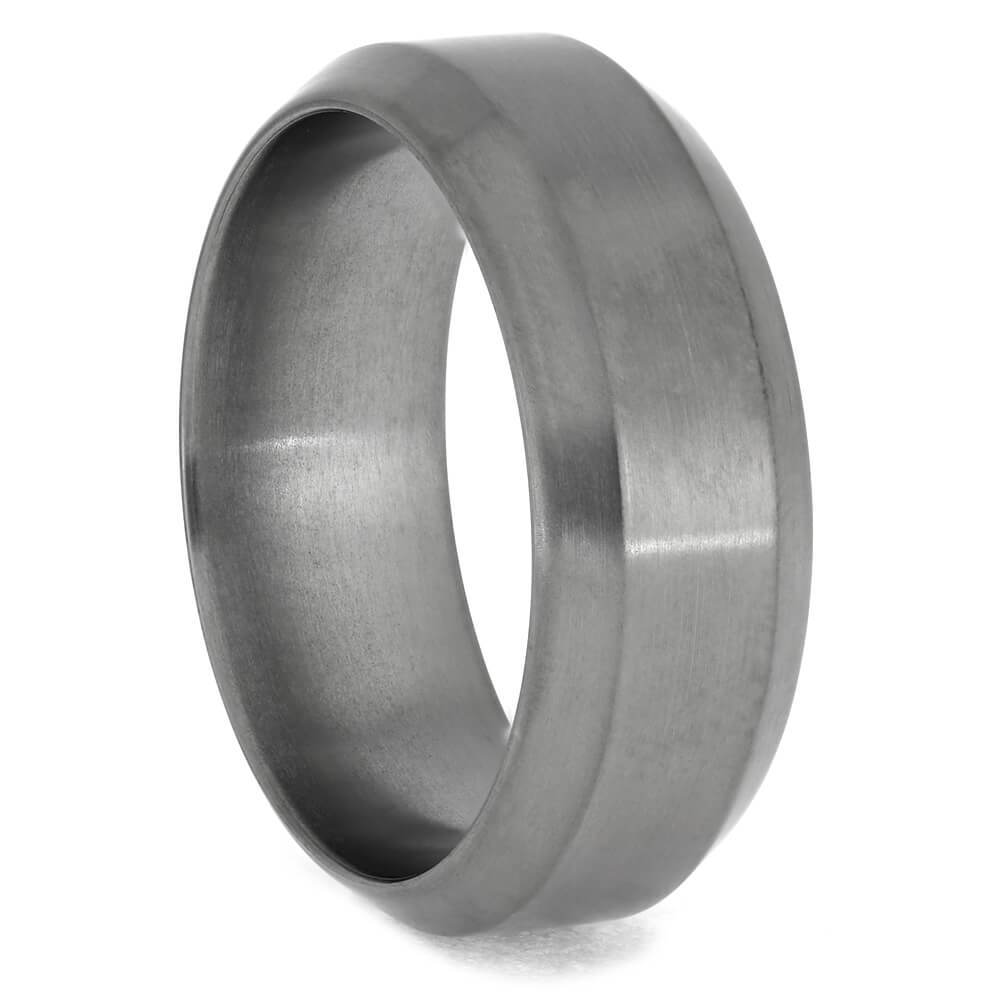 All Metal Titanium Wedding Band
