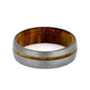 olive wood wedding band