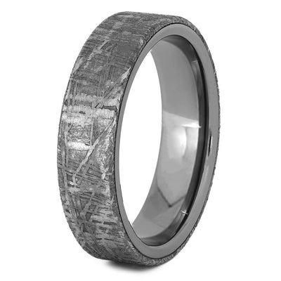 Meteorite and Titanium Men's Wedding Band